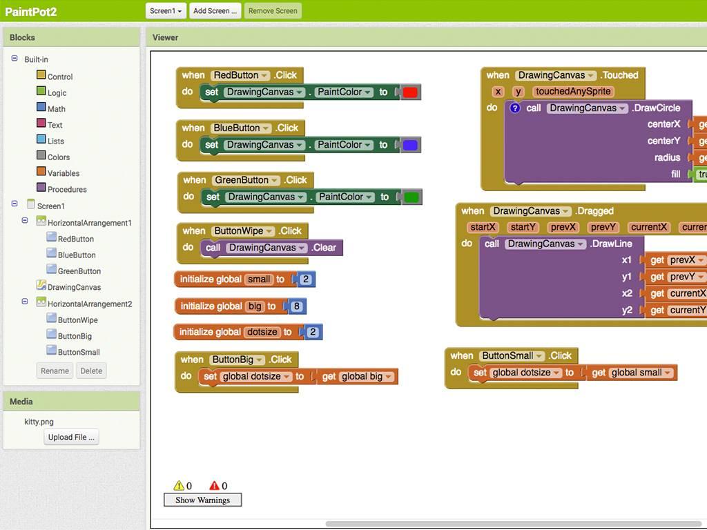 Fablab Factory Workshop maak een app
