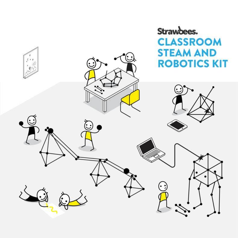 Classroom STOOM en robotiekit van Strawbees