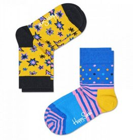 Happy Socks Happy Socks 2-pack Bang Bang yellow