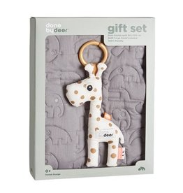 Done by Deer Done by Deer Quilt gift set, grey