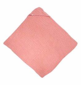 Jollein Jollein badcape wrinkled XL coral pink 100x100