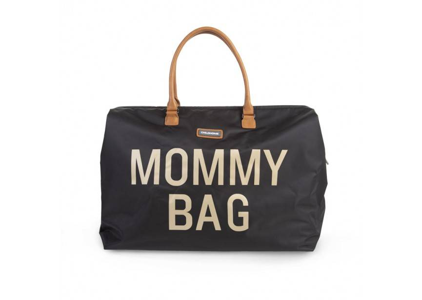 Childhome Childwheels mommy bag black gold