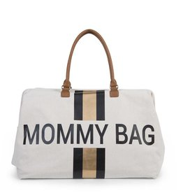 Childhome Childwheels mommy bag groot canvas off white black/gold