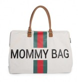 Childhome Childwheels mommy bag groot canvas off white green/red