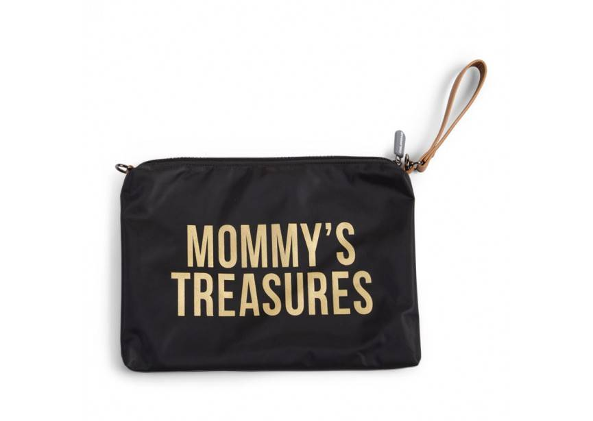 Childhome Childwheels mommy clutch black gold