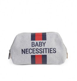 Childhome Childwheels baby necessities canvas grey stripes red/blue