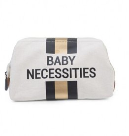 Childhome Childwheels baby necessities canvas off white stripes black/gold