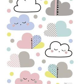 Lilipinso Lilipinso wall stickers clouds and peas multicolored