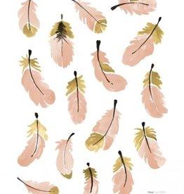 Lilipinso Lilipinso wall stickers feathers pink
