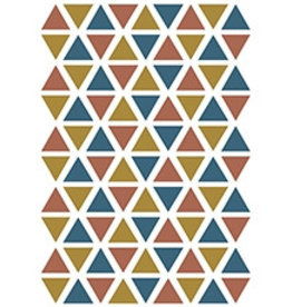 Lilipinso Lilipinso wall stickers triangles gold/petrol