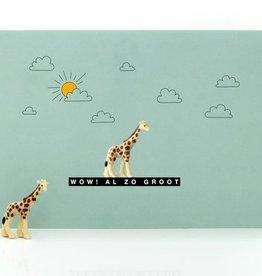 Leuke kaartjes Leuke kaartjes Luckies giraf wow al zo groot