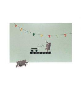 Leuke kaartjes Leuke kaartjes Luckies feest neushoorn
