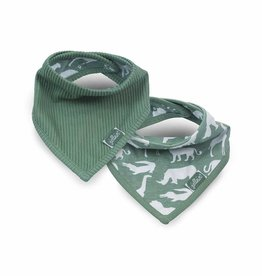 Jollein Jollein slab bandana Safari forest green (2-pack)
