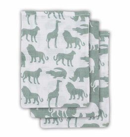 Jollein Jollein tetra washandje safari forest green (3pack)