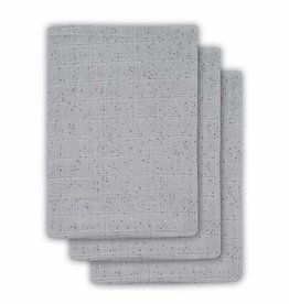 Jollein Jollein Tetra washandje Mini dots mist grey (3pack)
