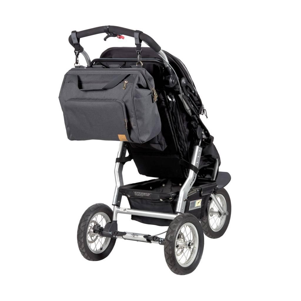 Lassig Lässig Goldie Diaper Backpack for Twins Antraciet