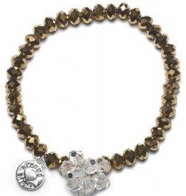 Proud Mama Proud Mama armband charm beads (goud)