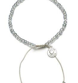 Proud Mama Proud Mama armband beads grijs