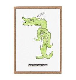 Studio Flash Studioflash wenskaart crocodile kids