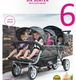 Childhome Childwheels six seater buggy + autobrake 6 kinderen antraciet