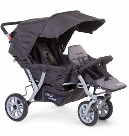Childhome Childwheels triplet buggy 3 kinderen antraciet