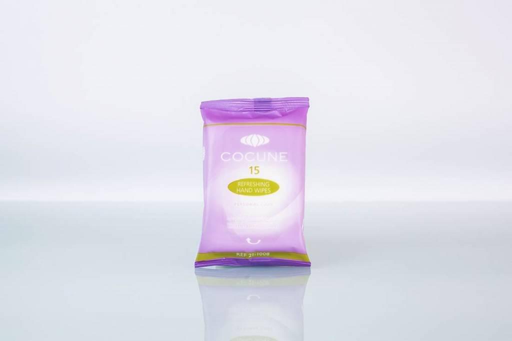 Handwipes hygienisch en refreshing per 15 doekjes