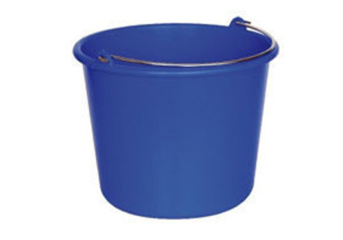 Emmer rond 12 liter blauw of rood p.s.