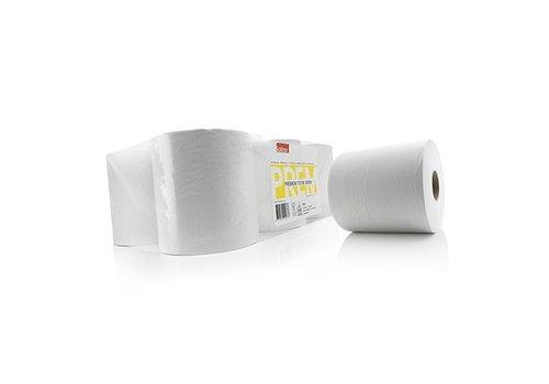 papieren poetsrollen 6x 1 laags 300 mtr