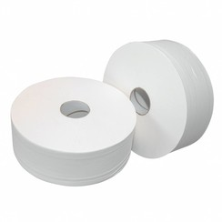 6x rol toiletpapier Jumbo ONgeperforeerd MAXI 380 meter