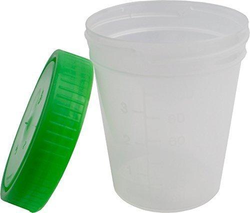 Medi-Inn Urinebekers met schroefdeksel Groen 125 ml - 100 st