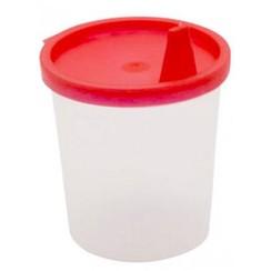 20x Urinebekers met snap-on deksel en tuit Rood 125 ml