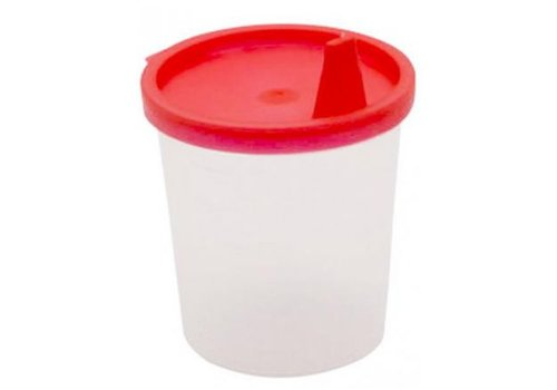 20x Urinebekers met snap-on deksel en tuit Rood 125 ml