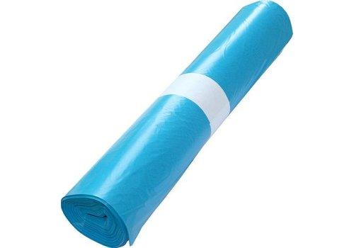 blauwe afvalzakken 120 liter in 3 diktes per rol