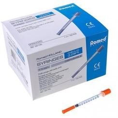 disposable steriele U100 insulinespuiten 100x 1st
