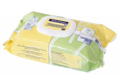 Bacillol AF tissues per pak 80 doekjes desinfectie