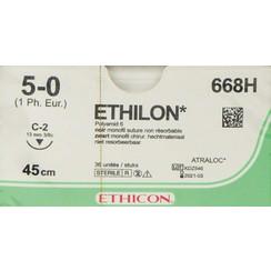 Ethilon 5-0 668H naald C-2 p. pakje a 36st