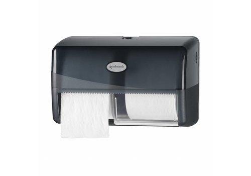 zwarte duo coreless toiletrol dispenser