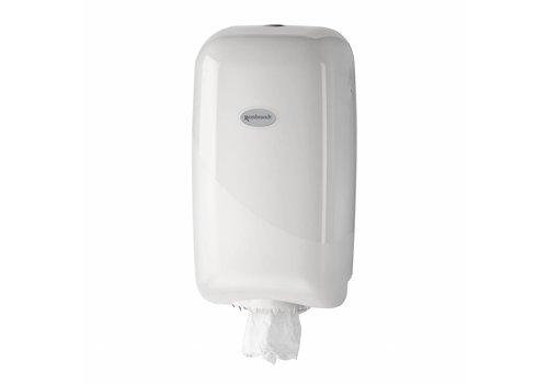 witte MINI poetsrol dispenser p.s.
