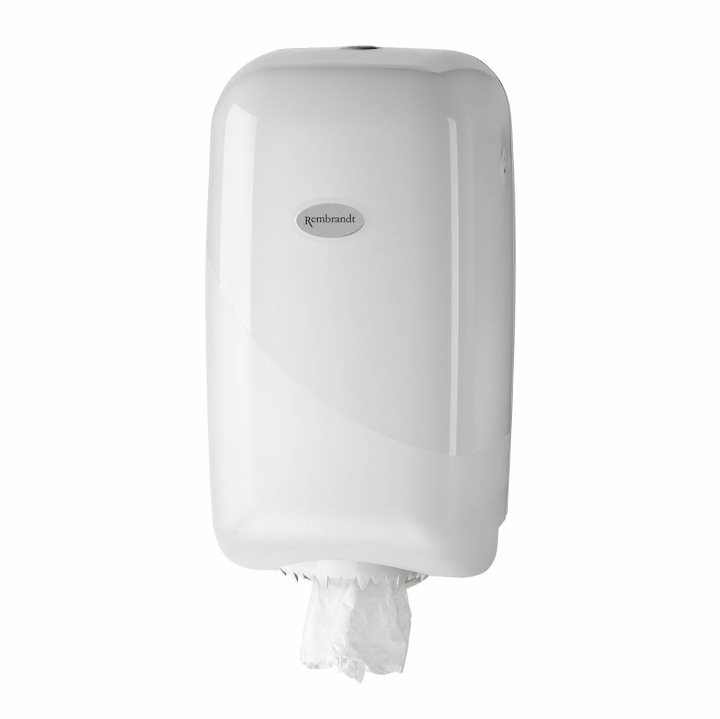 Witte MINI poetsrol dispenser p.s.