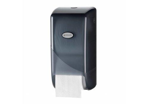 zwarte toilet doprol dispenser p.s.