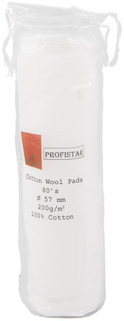 Cosmetic watten pads Eco rond 57mm per rol 80st