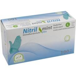mint groene nitril Plus handschoenen 100 st.