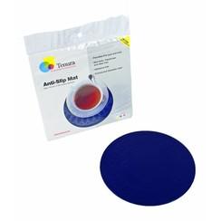 Anti-slip matten rond - 19 cm  blauw