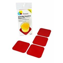 Anti-slip onderzetters - rood 4 stuks