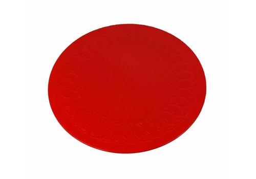 Anti-slip matten rond - 19 cm rood