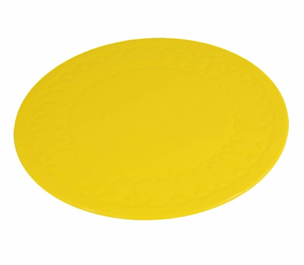 Anti-slip matten rond - 19 cm geel