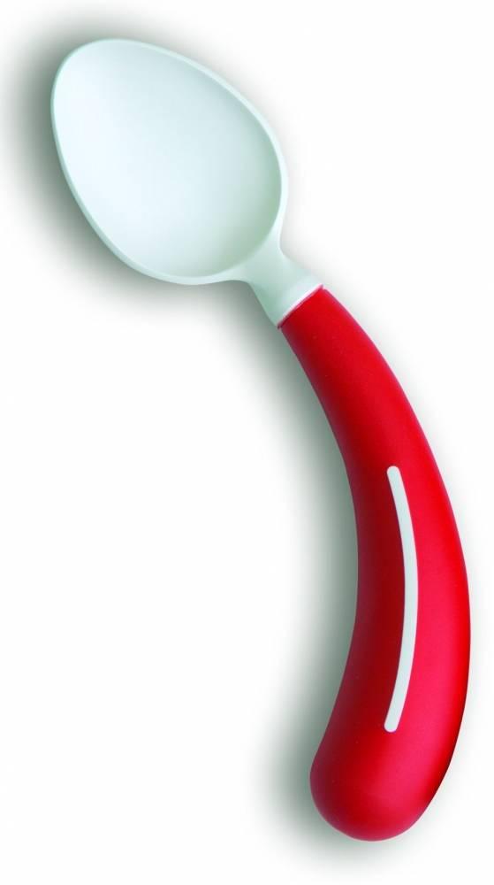 Bestek - lepel rechtshandig rood
