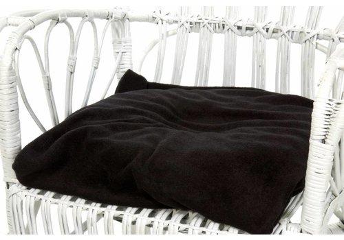 Hoes voor ringkussen - badstof hoes zwart