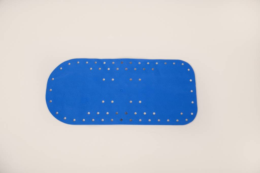 Anti-slip bad- en douchematten - badmat blauw