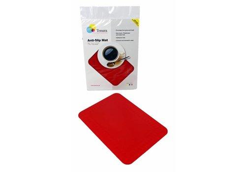 Anti-slip matten rechthoekig - L 25,5 x B 18,5 cm rood